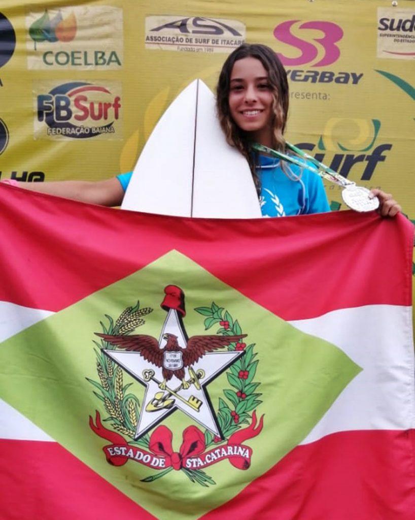 Kiany Hiakutake nossa melhor atleta na competição fez duas finais. Foto: Regina